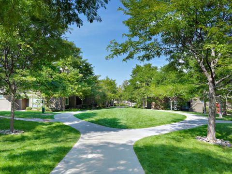 Green Space and Trails at Camden Highlands Ridge Apartments in Highlands Ranch, CO