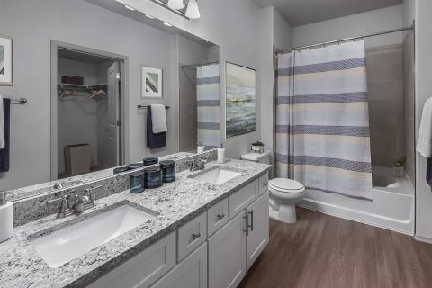 Bathroom at Camden Highlands Ridge Apartments in Highlands Ranch, CO