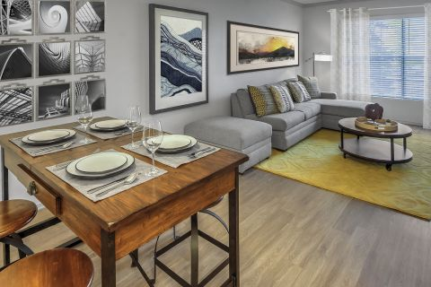 Living and Dining Room at Camden Highlands Ridge Apartments in Highlands Ranch, CO