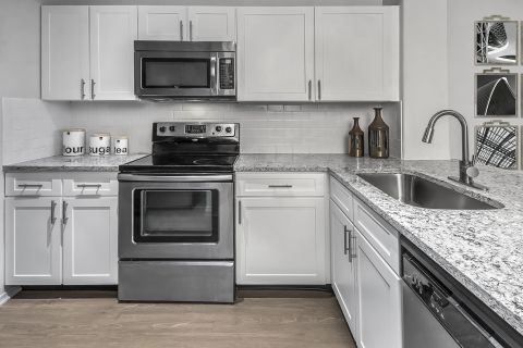 Kitchen with Stainless Steel Appliances at Camden Highlands Ridge Apartments in Highlands Ranch, CO