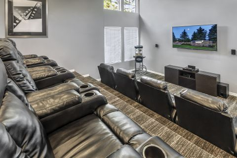 Theater Room Recliners at Camden Highlands Ridge Apartments in Highlands Ranch, CO