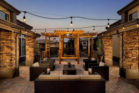 Outdoor Lounge at Camden Highlands Ridge Apartments in Highlands Ranch, CO