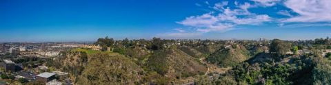 Camden Hillcrest Apartments San Diego California Panoramic View Shot of Neighborhood