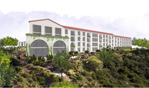 Camden Hillcrest San Diego California Mission Style Luxury Apartments Arch Windows