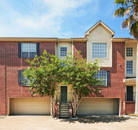 Townhome Garages at Camden Holly Springs Apartments in Houston, TX