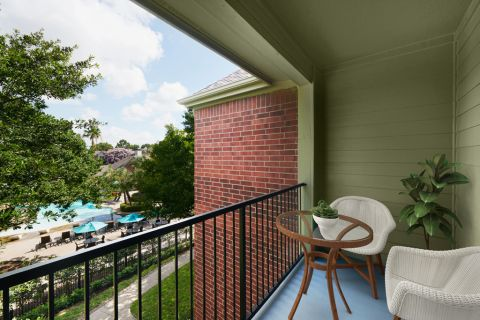 Balcony at Camden Holly Springs Apartments in Houston, TX
