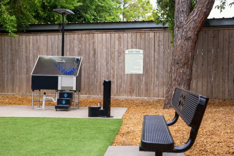 Dog Park with Pet Washing Station at Camden Holly Springs Apartments in Houston, TX