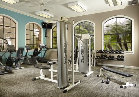Fitness Center at Camden Hunters Creek Apartments in Orlando, FL