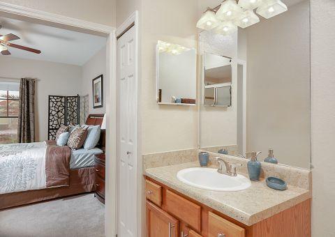 Bathroom at Camden Hunters Creek Apartments in Orlando, FL