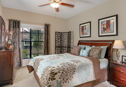 Bedroom at Camden Hunters Creek Apartments in Orlando, FL