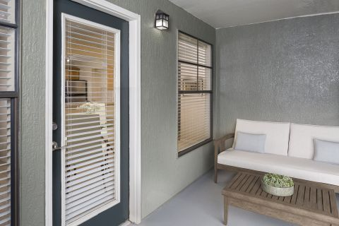 Patio or Balcony at Camden Hunters Creek Apartments in Orlando, FL