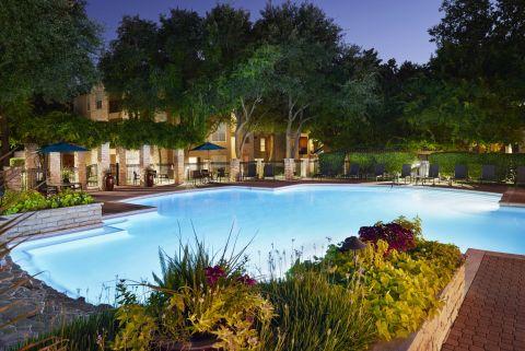 Swimming Pool Dusk View at Camden Huntingdon Apartments in Austin, TX