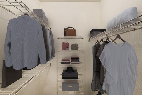 Walk-In Closet at Camden Huntingdon Apartments in Austin, TX