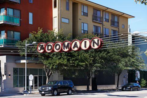 The Domain Shopping Center near Camden Huntingdon Apartments in Austin, TX