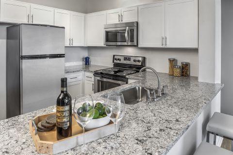 Chef-Style Kitchen at Camden Interlocken Apartments in Broomfield, CO