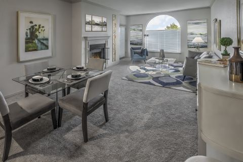 Open-Concept Living and Dining at Camden Interlocken Apartments in Broomfield, CO