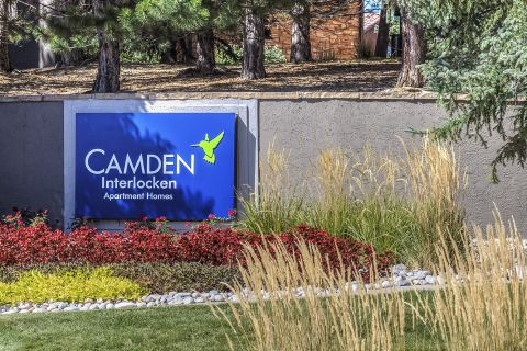 Welcome Sign at at Camden Interlocken Apartments in Broomfield, CO