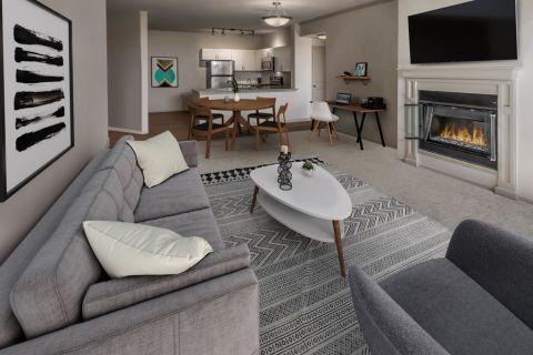 Living Room at Camden Interlocken Apartments in Broomfield, CO