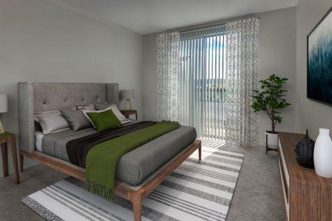 Bedroom at Camden Interlocken Apartments in Broomfield, CO