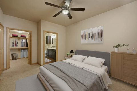 Bedroom at Camden La Frontera Apartments in Round Rock, TX