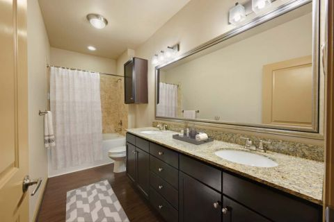 Bathroom Camden La Frontera Apartments in Round Rock, TX