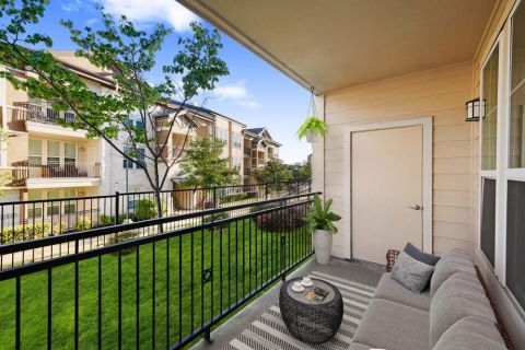 Balcony at Camden La Frontera Apartments in Round Rock, TX