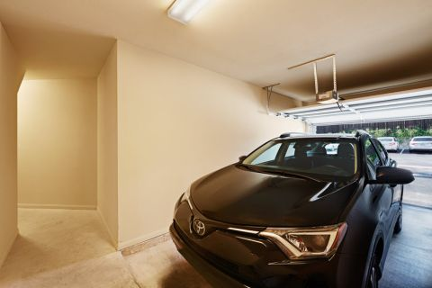 Attached garage at Camden La Frontera Apartments in Round Rock, TX