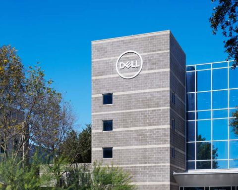 Dell campus near Camden La Frontera Apartments in Round Rock, TX