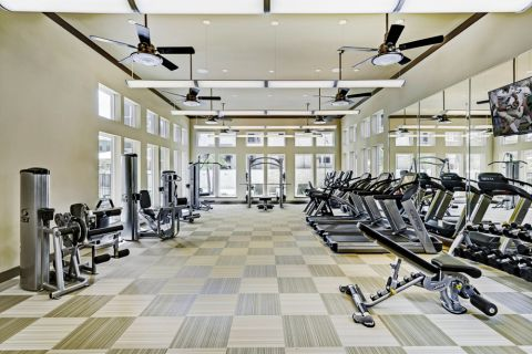 Fitness Center at Camden La Frontera Apartments in Round Rock, TX
