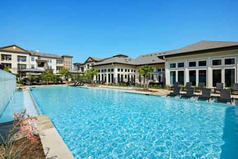 Pool at Camden La Frontera Apartments in Round Rock, TX