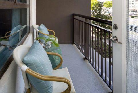 Balcony at Camden Lake Eola Apartments in Downtown Orlando, Florida