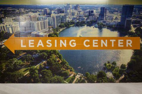 Leasing Center at Camden Lake Eola Apartments in Downtown Orlando, Florida