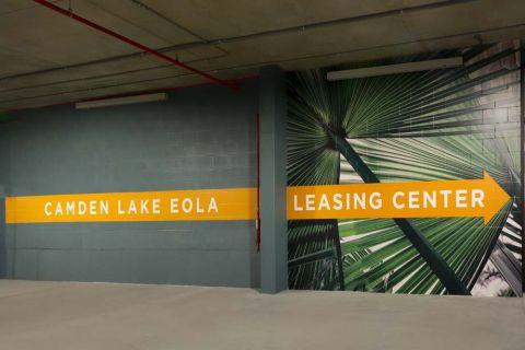 Parking Garage at Camden Lake Eola Apartments in Downtown Orlando, Florida