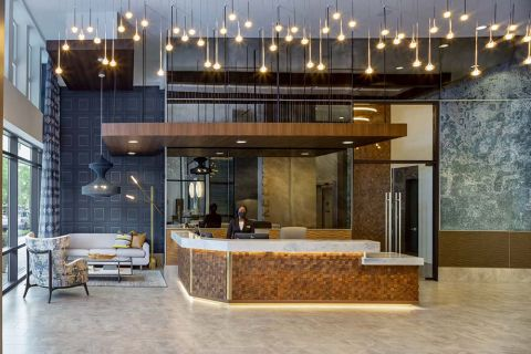 Concierge at Camden Lake Eola Apartments in Downtown Orlando, Florida