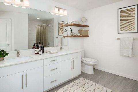 Bathroom at Camden Lake Eola Apartments in Downtown Orlando, Florida