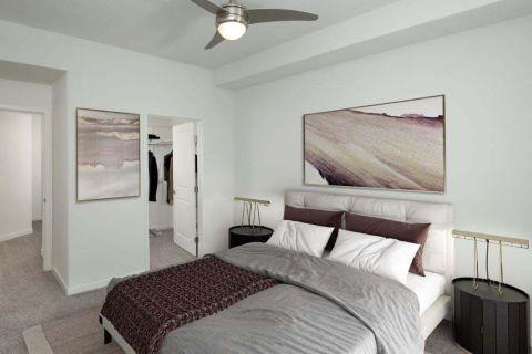 Main Bedroom at Camden Lake Eola Apartments in Downtown Orlando, Florida