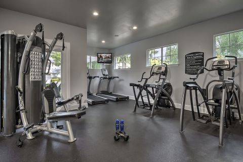 Fitness Center at Camden Lake Pine Apartments in Apex, NC