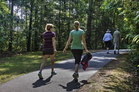 Walking Trails at Camden Lake Pine Apartments in Apex, NC