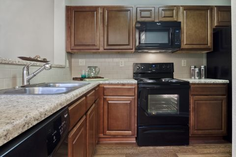 Kitchen at Camden Lake Pine Apartments in Apex, NC