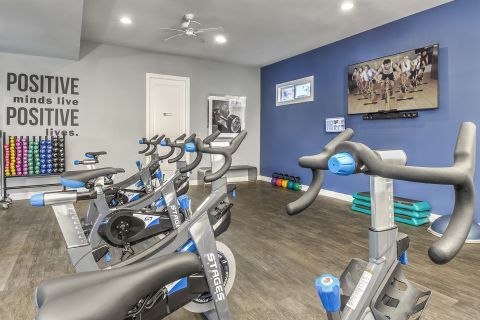 Fitness Center with Cardio Equipment at Camden Lakeway Apartments in Lakewood, CO