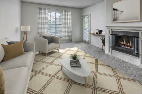 Living Room at Camden Lakeway Apartments in Lakewood, CO