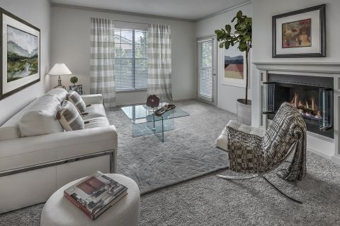 Spacious Living Room at Camden Lakeway Apartments in Lakewood, CO