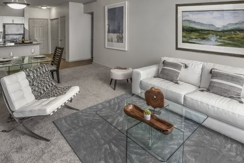 Open Concept Living and Dining at Camden Lakeway Apartments in Lakewood, CO