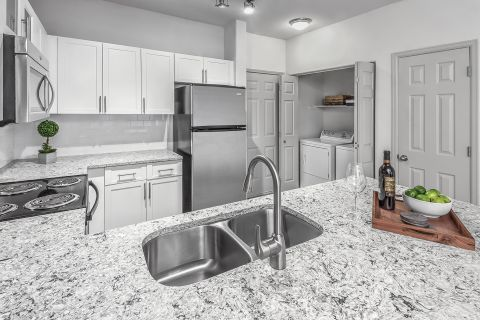 Chef-Style Kitchen at Camden Lakeway Apartments in Lakewood, CO