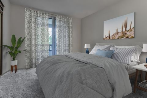 Bedroom at Camden Lakeway Apartments in Lakewood, CO