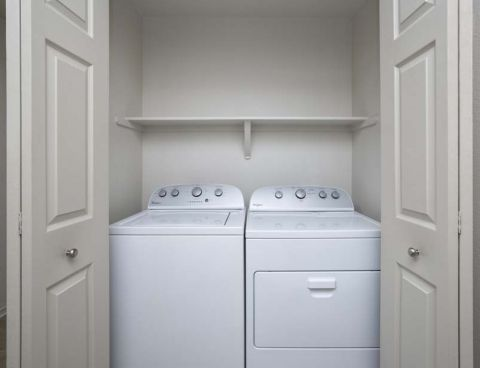 Full-sized Washer and Dryer at Camden Lakeway Apartments in Lakewood, CO