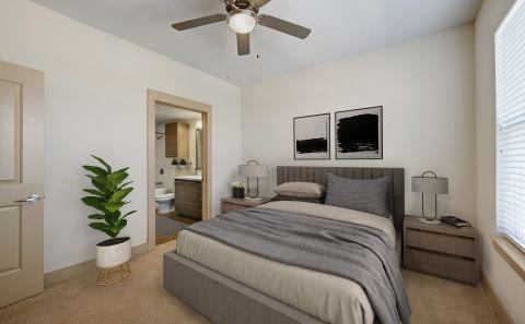 Bedroom at Camden Lamar Heights Apartments in Austin, TX