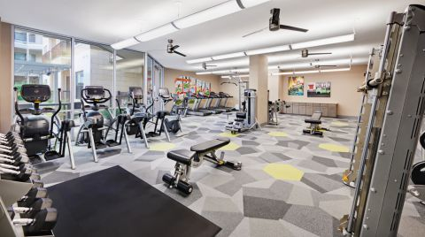 Fitness Center at Camden Lamar Heights Apartments in Austin, TX