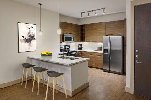 Kitchen at Camden Lamar Heights Apartments in Austin, TX