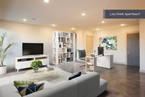 Live Work Space at Camden Lamar Heights Apartments in Austin, TX